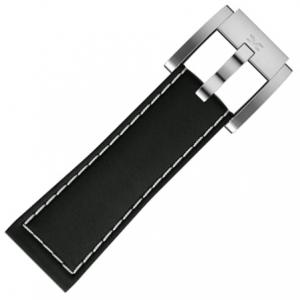Marc Coblen / TW Steel Uhrenarmband Leder Schwarz 22mm