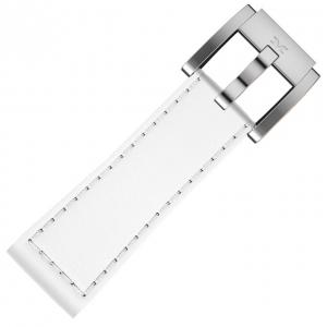 Marc Coblen / TW Steel Uhrenarmband Leder Weiss Glatt 22mm