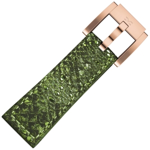 Marc Coblen / TW Steel Uhrenarmband Grün Glamour Leder Schlange 22mm