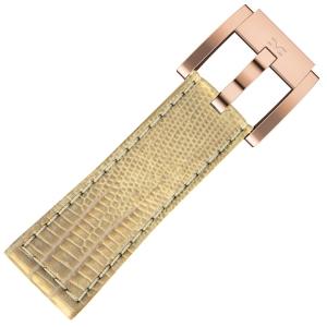 Marc Coblen / TW Steel Uhrenarmband Gold Leder Schlange 22mm