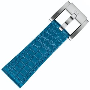 Uhrenarmband Kalbsleder Alligator Blau 22mm - Marc Coblen