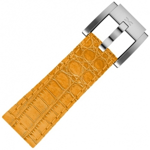 Marc Coblen / TW Steel Uhrenarmband Leder Alligator Orange 22mm