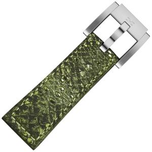 Marc Coblen / TW Steel Uhrenarmband Grünes Glamour Leder Schlange 22mm