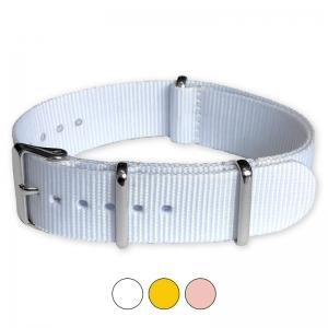 Weisses NATO Uhrenarmband G10 Military Nylon Strap