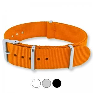 Orangenes NATO Uhrenarmband G10 Military Nylon Strap