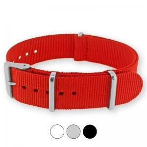 Rotes NATO Uhrenarmband G10 Military Nylon Strap