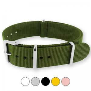 Armeegrünes NATO Uhrenarmband G10 Military Nylon Strap