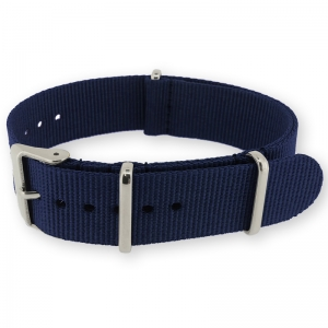 Navy Blue NATO G10 Military Nylon Strap - SS/MATTE