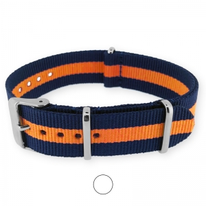 Regimental Blau Orange NATO Uhrenarmband G10 Military Nylon Strap