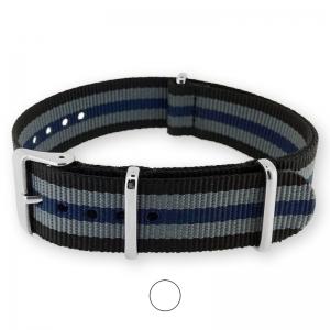 Schwarz Grau Blau NATO Uhrenarmband G10 Military Nylon Strap