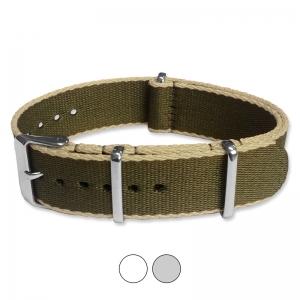 Armeegrün Beige Seatbelt NATO Strap Deluxe Nylon Uhrenarmband
