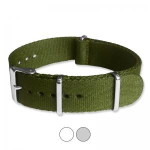 Armeegrün Seatbelt NATO Strap Deluxe Nylon Uhrenarmband