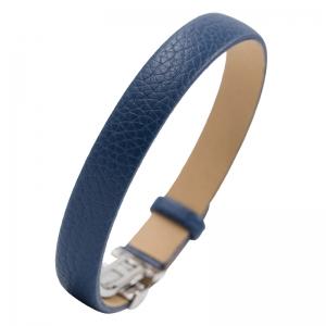 NIMA Atelier Seth Kalbsleder Armband mit Faltschliesse Blau