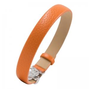 NIMA Atelier Seth Kalbsleder Armband mit Faltschliesse Orange