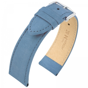 Hirsch Osiris Uhrenarmband Nubuk Blue - Limited Edition