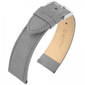Hirsch Osiris Uhrenarmband Nubuk Grau