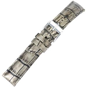 Hirsch Princess Pretiosa Uhrenarmband Alligatorgrain Silber