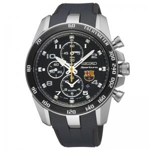 Seiko Sportura FC Barcelona Uhrenarmband SNAE93P1 Gummi Schwarz