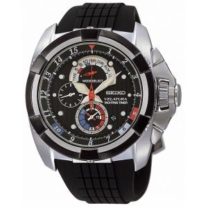 Seiko Velatura Uhrenarmband Gummi Schwarz SPC007P1 SPC041P1 - 26mm