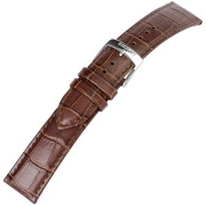 Seiko Uhrenband Alligatorgrain Kalbsleder Braun - 20 mm