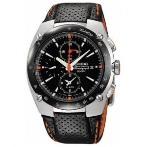 Seiko Sportura Uhrenarmband SNA481P1 Leder Schwarz