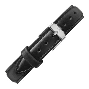 Daniel Wellington 13mm Classy Sheffield Uhrenarmband Leder Schwarz mit Stahlschliesse