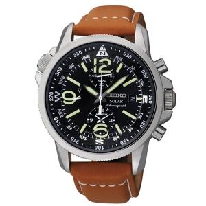 Seiko Solar Uhrenarmband SSC081P1 Leder Braun