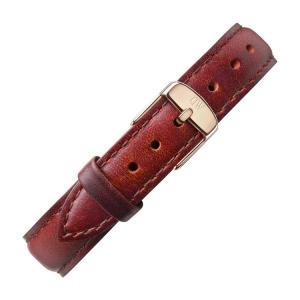 Daniel Wellington 12mm Petite St Mawes Uhrenarmband Leder Braun mit Roséschliesse