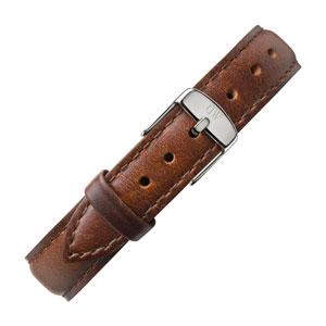 Daniel Wellington 13mm Classy St Mawes Uhrenarmband Leder Braun mit Stahlschliesse