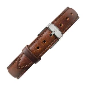 Daniel Wellington 12mm Petite St Mawes Uhrenarmband Leder Braun mit Stahlschliesse