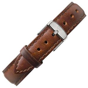 Daniel Wellington 17mm Classy St Mawes Uhrenarmband Leder Braun mit Stahlschliesse