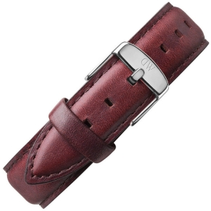 Daniel Wellington 18mm Classic St Mawes Uhrenarmband Leder Braun mit Stahlschliesse