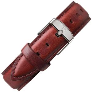 Daniel Wellington 20mm Uhrenarmband Classic St Mawes Leder Braun mit Stahlschliesse