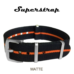 Superstrap MEGA NATO Nylon Strap Orange Skunk - Matte