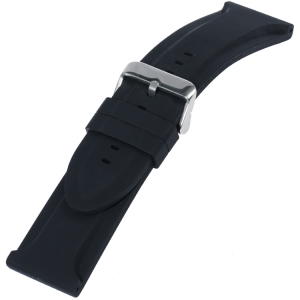 Silikon Gummi Uhrenarmband Big Black