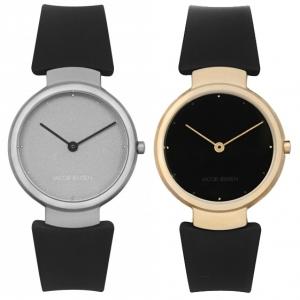 Jacob Jensen Uhrenarmband Serien 110, 111, 112 und 113 Gummi Schwarz