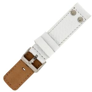 OOZOO Uhrenarmband Leder Weiss mit Nieten