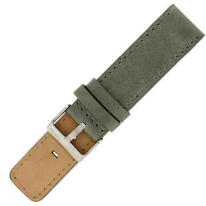 OOZOO Uhrenarmband Leder Grau