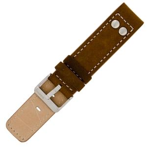 OOZOO Uhrenarmband Leder Braun mit Nieten