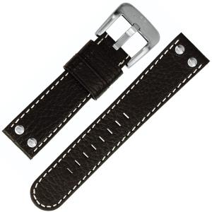 TW Steel Uhrenarmband TW2, TW4, TW6, TW9 - Schwarz 22mm