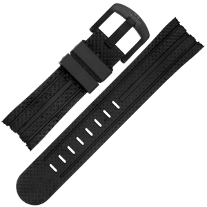 TW Steel Uhrenarmband TW75, TW102, TW256, TW705 - Gummi Schwarz 24mm