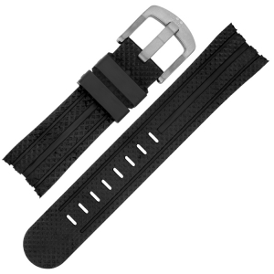 TW Steel Uhrenarmband TW73, TW84, TW85, TW701 - Gummi Schwarz 24mm
