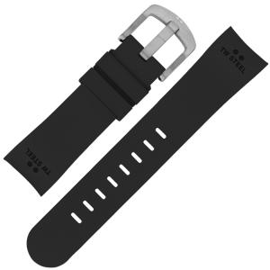 TW Steel Uhrenarmband TW25, TW26, TWA25, TWA26, TW41 - Gummi Schwarz 24mm