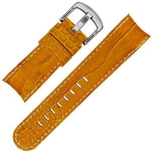 TW Steel Uhrenarmband TW53 - Kalbsleder Orange Krokoprint 24mm