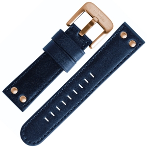 TW Steel Uhrenarmband Blau 22mm Schliesse roségoldfarbig - TW404, TW406, CE6000