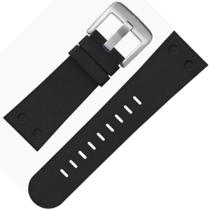 TW Steel Uhrenarmband TWB581 Gummi Schwarz 24mm