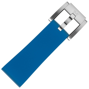 Silikon Uhrenarmband Monaco Blau 22mm - Marc Coblen