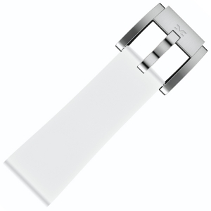 Silikon Uhrenarmband Weiss 22mm - Marc Coblen