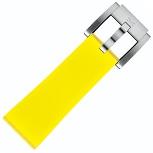 Silikon Uhrenarmband Zitronengelb 22mm - Marc Coblen