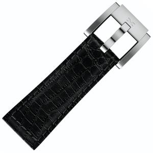 Marc Coblen / TW Steel Uhrenarmband Leder Alligator Schwarz 22mm